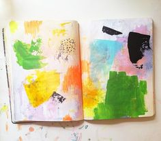would be great motivator to get kids writing... use creative 'art journaling' techniques on pages in writing journal, prior to writing on them...