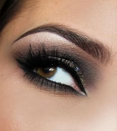 You can Create this Beautiful Look with Charcoal  White Sparkle Eyeshadows (use Charcoal Shadow as Liner, too)