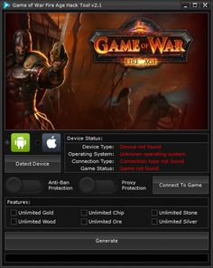 Your searched Game of War Fire Age Hack Tool v2.1: working on iOS and Android. The Game of War Fire Age Hack Tool v2.1 can be activated from Windows and Mac computers.