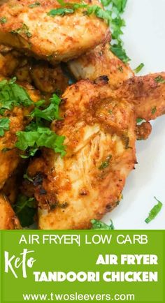 Make Tandoori chicken in your air fryer with just a yogurt-based marinade. A flavor-packed keto, low carb chicken recipe that is super easy to make and tastes like authentic tandoori chicken. Best way to make restaurant-style tandoori chicken at home.  via @twosleevers