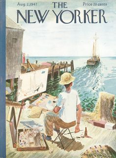 Fire Island ...in The Pines.....Garrett Price : Cover art for The New Yorker 1172 - 2 August 1947