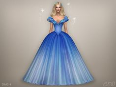 Cinderella - butterflies dress for The Sims 4 by BEO Cinderella 2015, Cinderella Gowns, Download Cinderella, Sims 4 Disney, Moda Disney, Sims 4 Mods Clothes, Sims 4 Clothing, Sims Mods, The Sims 4 Pc