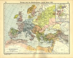 Europe and the Mediterranean Lands about 1190 (Inset: Guelf, Hohenstaufen and Ascanian Domains in Germany about 1176.)