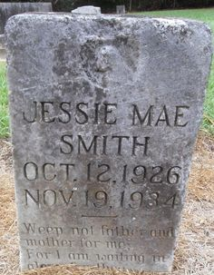 Roots from the Bayou : Wednesdays Child ~ Jessie Mae Smith