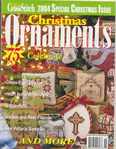 A hat's off to Just Cross Stitch. Yearly, they share with us the most amazing Christmas ornaments, and have begun to give us an issue just for Halloween. I love Halloween patterns, I just don't have the room any long to stitch many of them. Cross Stitch Tree, Just Cross Stitch, Cross Stitch Books, Cross Stitch Needles, Beaded Cross Stitch, Cross Stitch Embroidery, Cross Stitch Patterns, Plastic Canvas, Cross Stitch Christmas Ornaments