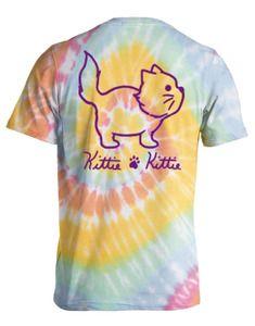 ef441cb7928 Kittie Kittie Tie Dye  2 Pastels Kittie Help Cat Rescue T-shirt - Trenz