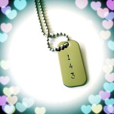 143 Hand Stamped Mini Dog Tag Necklace by @justByou, $14.00  #handmade #love #dogtag #necklace #couples