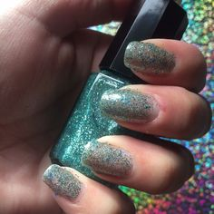 Purrrfect for prom, this super sparkly aqua & blue glitter is the cat's meow! All my polish is 5 free, animal cruelty free & only $4!! Check out my Etsy store Inspurrrations, like, share & follow me on Twitter Instagram & FB.