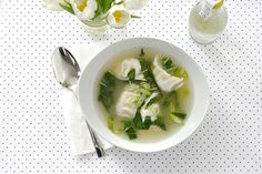 The Most Delish 5-Minute Homemade(-ish) Wonton Soup #Refinery29 - i'd top it with fried shallots and chilli too.