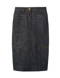 Derek Lam Denim Seamed Pencil Skirt #denimskirt denim skirts, lots of them.