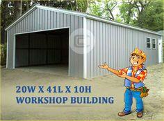 3 Simple Tricks: Patio Roofing On A Budget patio roofing on a budget.Patio Roofing On A Budget. Metal Garage Buildings, Metal Garages, Shop Buildings, Metal Workshop, Garage Workshop, Garage Design, Roof Design, Barns Sheds, Big Sheds