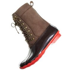 Sperry Top-Sider® for J.Crew tall Shearwater boots ($178) ❤ liked on Polyvore