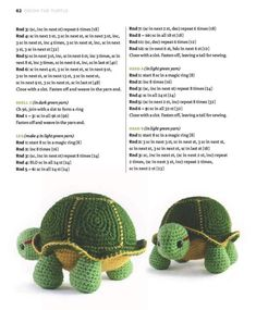 Crochet Turtle with Removable Shell Pattern Crochet Turtle Pattern Free, Animal Knitting Patterns, Easter Crochet Patterns, Crochet Dolls Free Patterns, Crochet Doll Pattern, Amigurumi Patterns, Crochet Baby Toys, Crochet Bunny, Cute Crochet