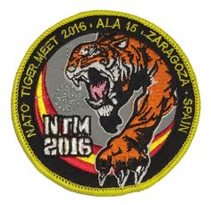 Escudo bordado NATO Tiger Meet 2016 Zaragoza, Airemilitar