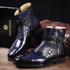 Men's Handcrafted Genuine Alligator Leather Boots Men's Handcrafted Genuine Alligator Leather Boots Big Men Fashion, Stylish Mens Fashion, Mens Boots Fashion, Sneakers Fashion, Fashion Styles, Men's Fashion, Fashion Outfits, Fashion Trends, Alligator Boots