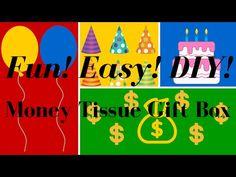 Fun! Easy! DIY! Money Tissue Gift Box! A Fun Way To Gift Money!