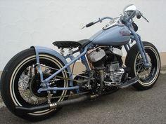 1942 WLA Flathead Harley Bobber oldschool motorcycle