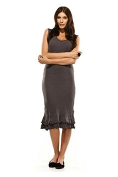 Vigorella Sleeveless Dress With Frill - Womens Long Dresses at Birdsnest