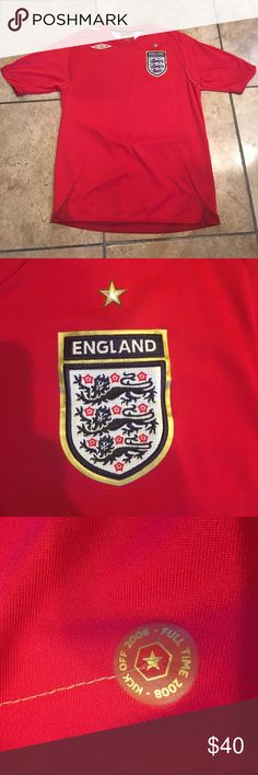 Official England World Cup Jersey Perfect quality official England soccer jersey. Umbro Shirts Tees - Short Sleeve
