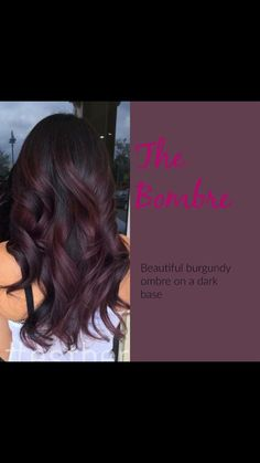 Burgundy Plum Hair Color With A Dark Base - Hairstyles For All Burgundy Plum Hair Color, Purple Hair, Burgundy Hair Highlights, Burgundy Balayage, Long Burgundy Hair, Pastel Hair, Brown Hair Colors, Green Hair, Hair Color And Cut