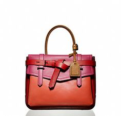 Red + Pink + Orange in a Reed Krackoff bag! Such an amazing combination of colors!