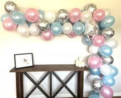 Balloon Garland Decorations Snowflake Balloons DIY Winter Baby Baby It's Cold Outside Etsy Gold Letter Balloons, Rose Gold Balloons, White Balloons, Mylar Balloons, Bachelorette Party Decorations, Balloon Decorations Party, Balloon Garland, Balloon Arch, Party Themes