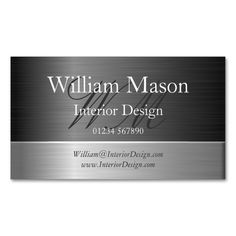 Elegant Steel Effect Monogram Business Card Business Cards. I love this design! It is available for customization or ready to buy as is. All you need is to add your business info to this template then place the order. It will ship within 24 hours. Just click the image to make your own!