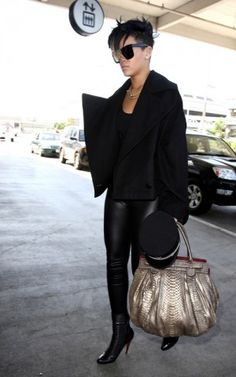 2c62d01c1c42 Rihanna wearing Christian Louboutin Apollonia Black Leather Ankle Boots
