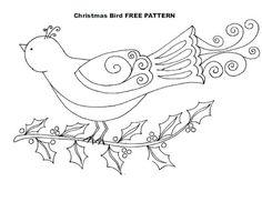 Little Bird & Holly Pattern