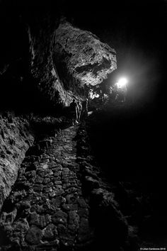 Cueva de Los Verdes, Lanzarote (Canary Islands, Spain).