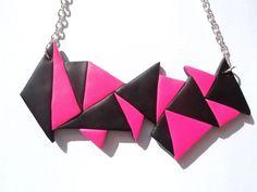 Collar en arcilla polimerica con cadena.    Para cualquier duda contacte conmigo.       Polymer clay necklace with chain.    For any questions plea...