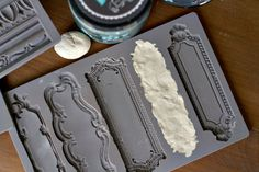 Dollar Store Craft Makeover with fancy Molds and DIY Paint! Dollar Tree Christmas, Christmas Ornament Crafts, Dollar Tree Crafts, Christmas Decor, Xmas, Iron Orchid Designs, All Craft, Diy Molding, Hanging Ornaments