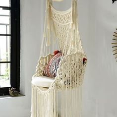 making cup mats for my friend 😋😋 macrame teatime macrameart macramemat Macrame Hanging Chair, Macrame Chairs, Hanging Swing Chair, Macrame Curtain, Swinging Chair, Macrame Design, Macrame Art, Macrame Projects, Macrame Plant Holder