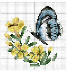 Kreuzstich Butterfly Cross Stitch, Cross Stitch Heart, Cross Stitch Animals, Cross Stitch Flowers, Modern Cross Stitch Patterns, Cross Stitch Designs, Hand Embroidery Designs, Embroidery Patterns, Cross Stitching