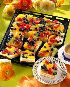 Unser beliebtes Rezept für Zitronencreme-Obstkuchen vom Blech und mehr als 55.000 weitere kostenlose Rezepte auf LECKER.de.