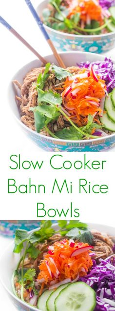 Everything you love about the Vietnamese bahn mi sandwich served in a bowl over brown rice (it's great over any grain). Bahn appetite!
