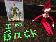 Our elf returned tonight as a gift from St Nick.