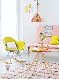 Interior design pastel coloured home living room decor inspirational idea Frosta Ikea, Color Inspiration, Interior Inspiration, Deco Pastel, Pastel Decor, Pastel Interior, Bohemian Interior, Yellow Interior, Brown Interior