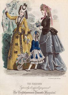 June fashions, 1871 England, Englishwoman's Domestic Magazine