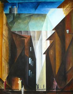 Lyonel Feininger Barfüsserkirche in Erfurt Art And Illustration, Abstract Expressionism, Abstract Art, Modern Art, Contemporary Art, Pastel Art, Kandinsky, Art Plastique, Beautiful Paintings