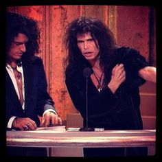 Joe Perry and Steven Tyler.