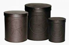 Canister Set with the Texas Lone Star-So rustic looking