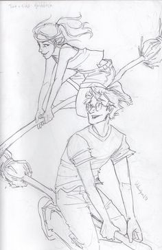 """""""two-a-side quidditch by burdge""""  Ginny's hair."""