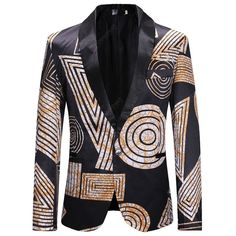 Cafuny Mens Casual Long Sleeve One Button Solid Color Blazer Suit Jacket