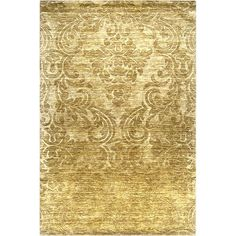 Hand-crafted Solid Casual Wool Rug (Yellow-(8' x 11')), Yellow, Size 8' x 11'