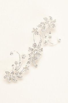 Crystal Flower Double Clip Comb C9057