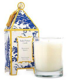 One Kings Lane - Best-Guest List - S/2 Pagoda Candles, Napoleon Lemon