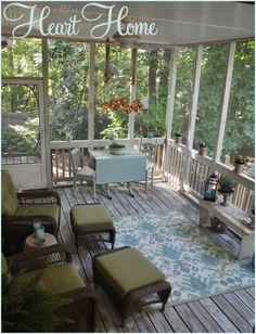 Screen Porch makeover and using an idea board...I need this