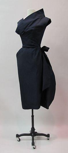 Cocktail dress Charles James (American, born Great Britain, 1906–1978) Date: 1953–54 Culture: American Medium: silk. Front