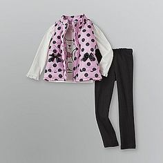 Infant & Toddler Girl's Polka Dot Vest Outfit- WonderKids